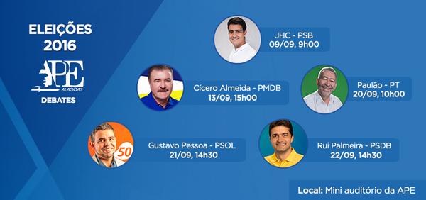 APE promove debate com candidatos à Prefeitura de Maceió