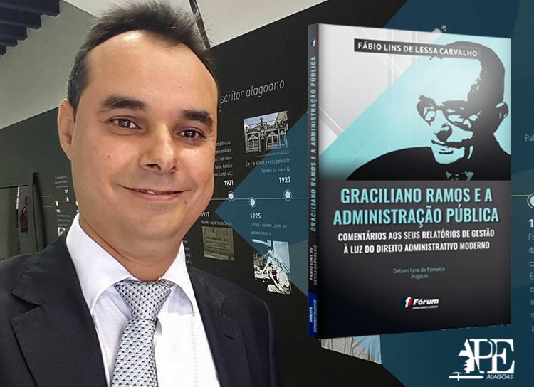 Procurador Fábio Lins lança livro sobre Graciliano Ramos e a Administração Pública
