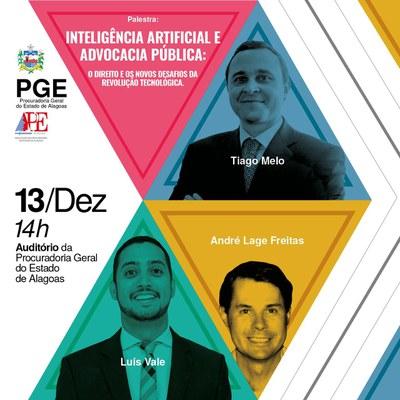 Inteligência Artificial na Advocacia Pública será tema de seminário na PGE